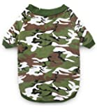 DroolingDog Dog Clothes Dog Camo Tee Shirts Camouflage T Shirt Pet Apparel for Dogs