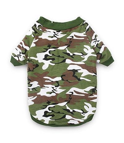 DroolingDog Dog Clothes Dog Camo Tee Shirts Camouflage T Shirt Pet Apparel