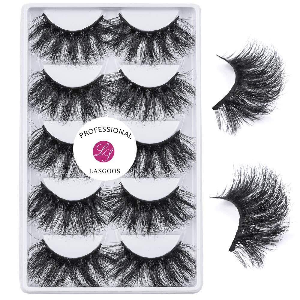 Amazon Com 5 Pairs Mink Eyelashes Eyelashes Extension Eye Makeup 6d 25mm Wholesale Fake Eyelashes Pack Long Handmade Fluffy Soft Reusable Lashes Black Beauty