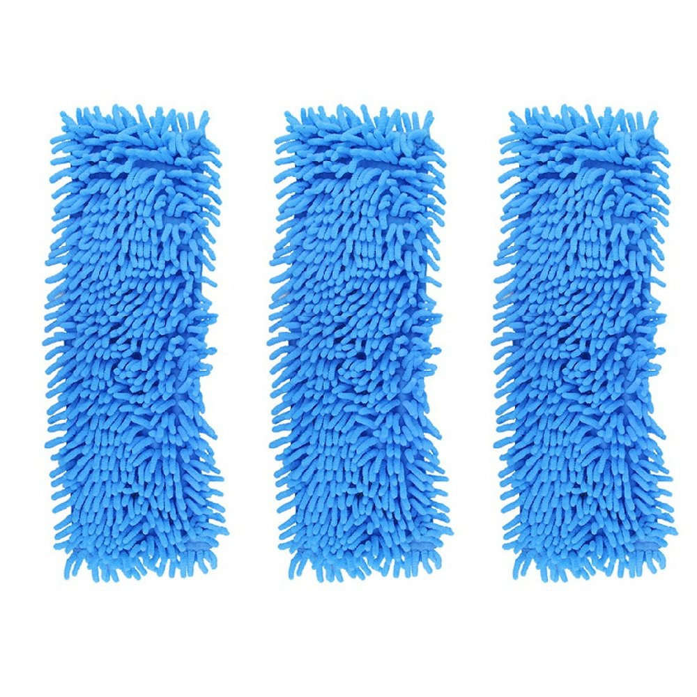 Accessotech Extendable Microfibre Floor Mop Cleaner Sweeper Wooden Laminate Tile Wet Dry (Blue)