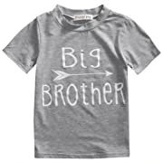 Toddler Boys Girls Sibling Shirts for Big Sister and Brother, Hipster Design, 2-7T (2-3T, Big Brother)