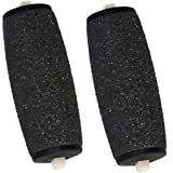 Inditradition Foot File Roller Refill Heads Compatible With All Electronic Pedicure & Foot File Roller - Pack Of 2 (Black)
