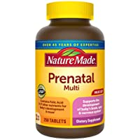 Nature Made Prenatal Vitamin with Folic Acid, Iron, Iodine & Zinc, 250 Tablets (...