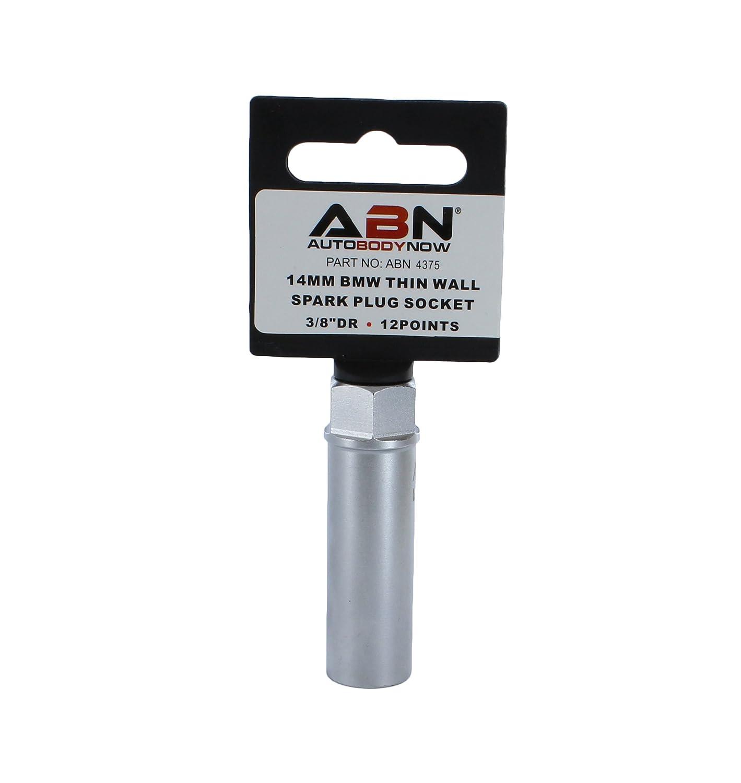ABN Spark Plug Socket Motorcycle Thin Wall 14mm 12-Point 3//8 Inch Drive Plug Socket for BMW Car Truck