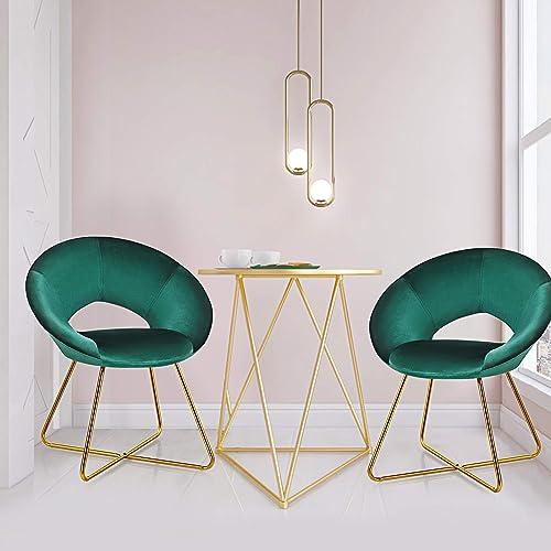 Giantex Modern Velvet Accent Chair - a good cheap living room chair