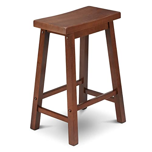 Civet Home Saddle Stool, 24 , Walnut