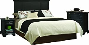 Bedford Black King Headboard with Night Stand and Chest by Home Styles