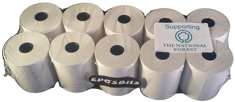 Eposbits® marca rotoli per Casio se-g1registratore di cassa SEG1se G1bianco–10rotoli
