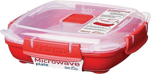 Sistema - Recipiente para microondas (440 ml): Amazon.es: Hogar