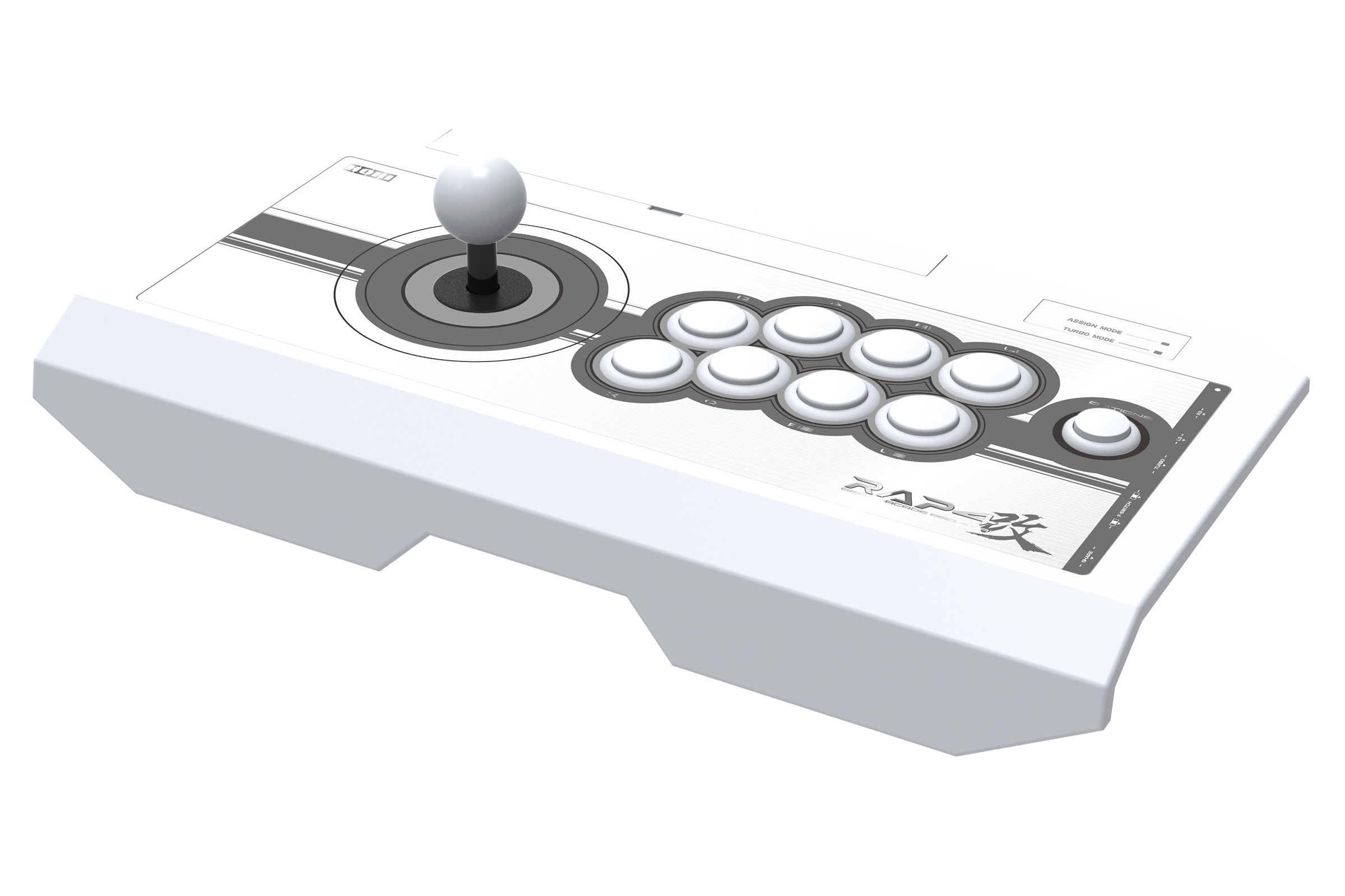HORI Real Arcade Pro 4 Kai (White) for PlayStation 4, PlayStation 3, and PC