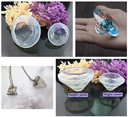Amazon.com: UV Epoxy Resin Jewelry Making Kit Clear Transparent Non-Toxic, 250g Crystal Epoxy + 11 Silicone Molds (31 Shapes) + 100 Screws, Home Jewelry DIY ...
