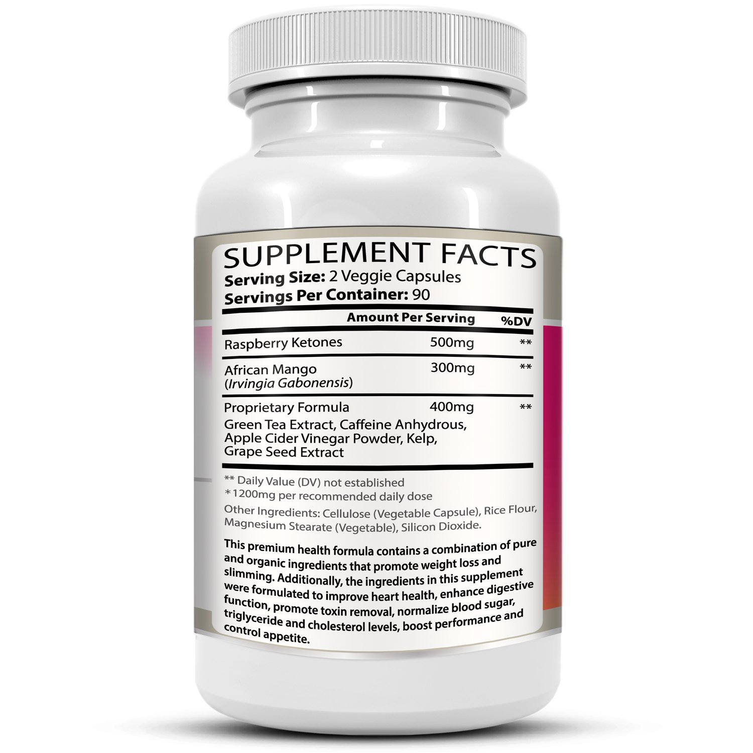 Raspberry Ketones Supreme Weight Loss & Slimming Formula for Adults. 1200mg Per Day. 180 All-Natural Capsules with Premium, Pure & Organic Ingredients. by Evergenics Health and Personal Care (Image #8)