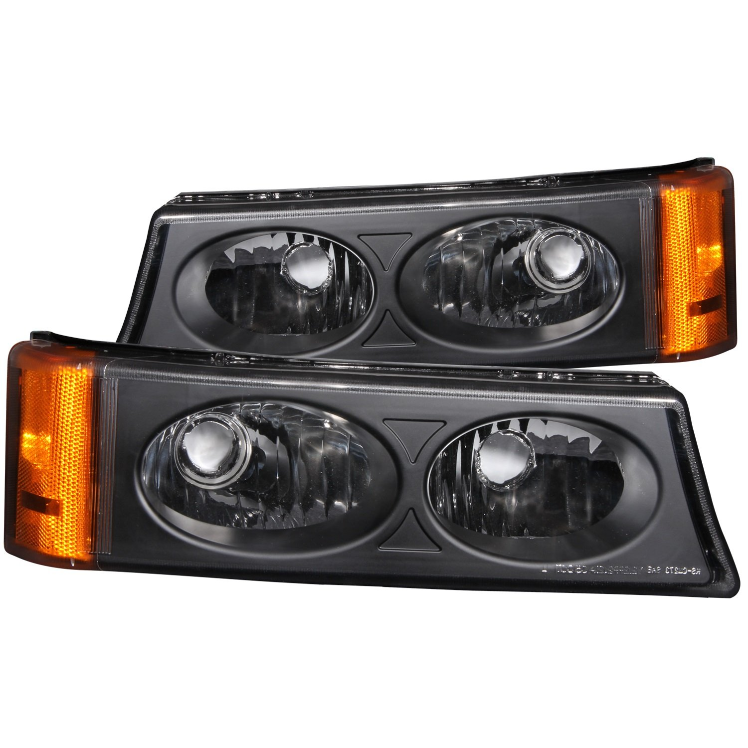 Sold in Pairs Anzo USA 511036 Chevrolet Avalanche//Silverado Black Crystal Lens Parking Light Assembly