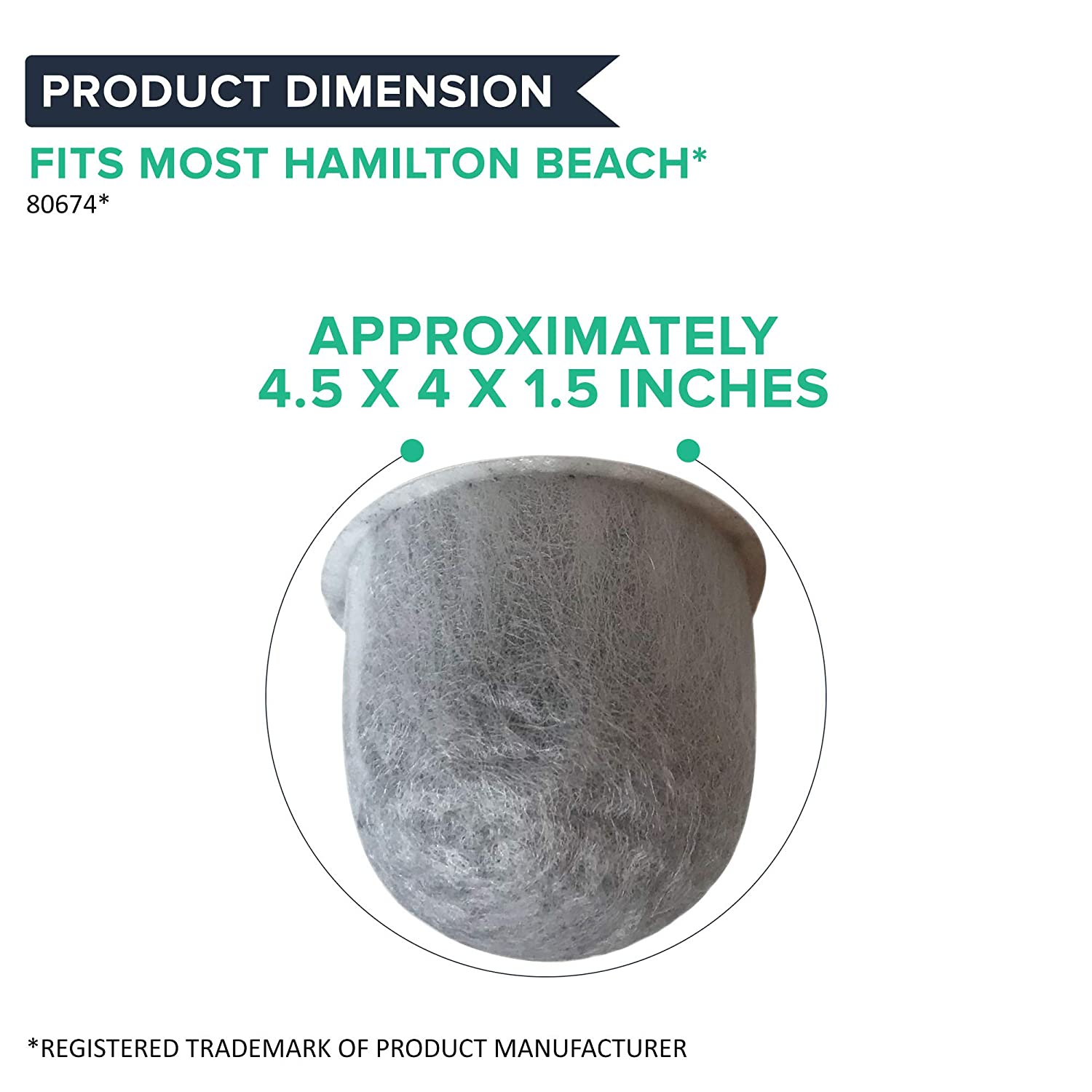 Compatible With Part # 80674 Fits Mod Cafe Stay or Go /& Brew Station 7.02E+11 Think Crucial 12 Replacements for Hamilton Beach Charcoal Water Filters