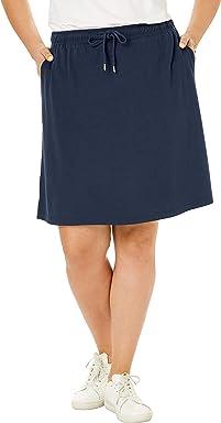 f533555334 Woman Within Women's Plus Size Sport Knit Skort
