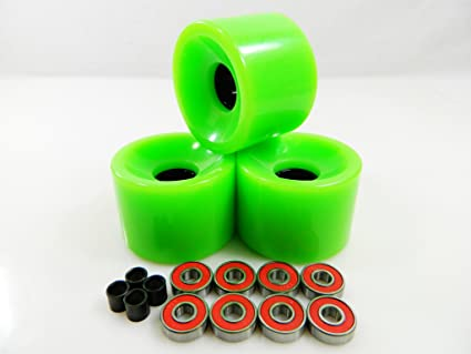 Blank Skateboard Wheels With ABEC 9 Bearings 50mm ORANGE