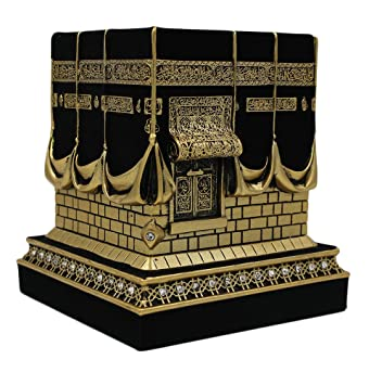 islamic home table decor kaba replica model showpiece bookend eid gift small gold - Islamic Home Decoration