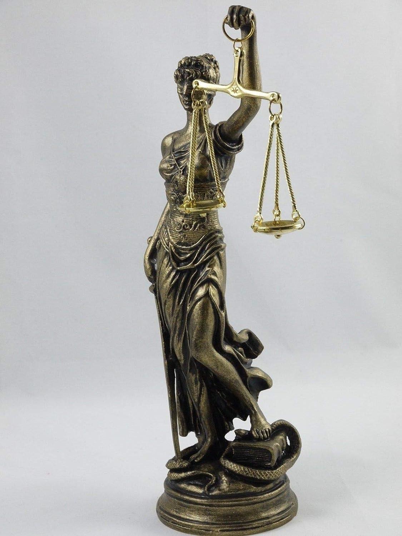 BeautifulGreekStatues - Figura decorativa de temática griega para dama de la justicia o abogado (25,4 cm): Amazon.es: Hogar
