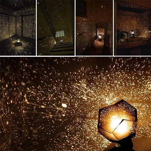 DIY Science Sky Projection lámpara de proyector de luz Nocturna ...