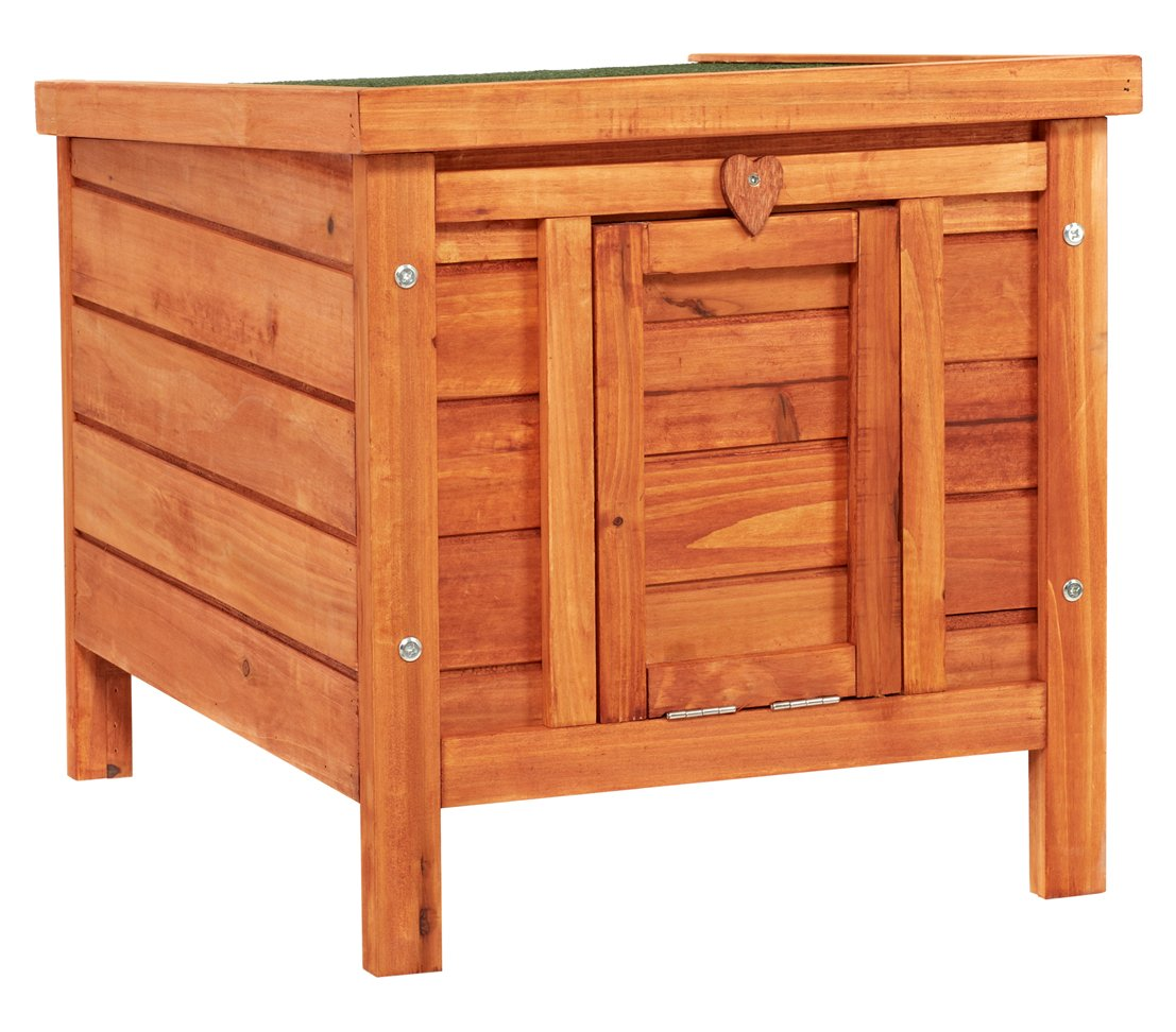 Dehner Bed House with Folding Roof, 51x 42cm, Wood