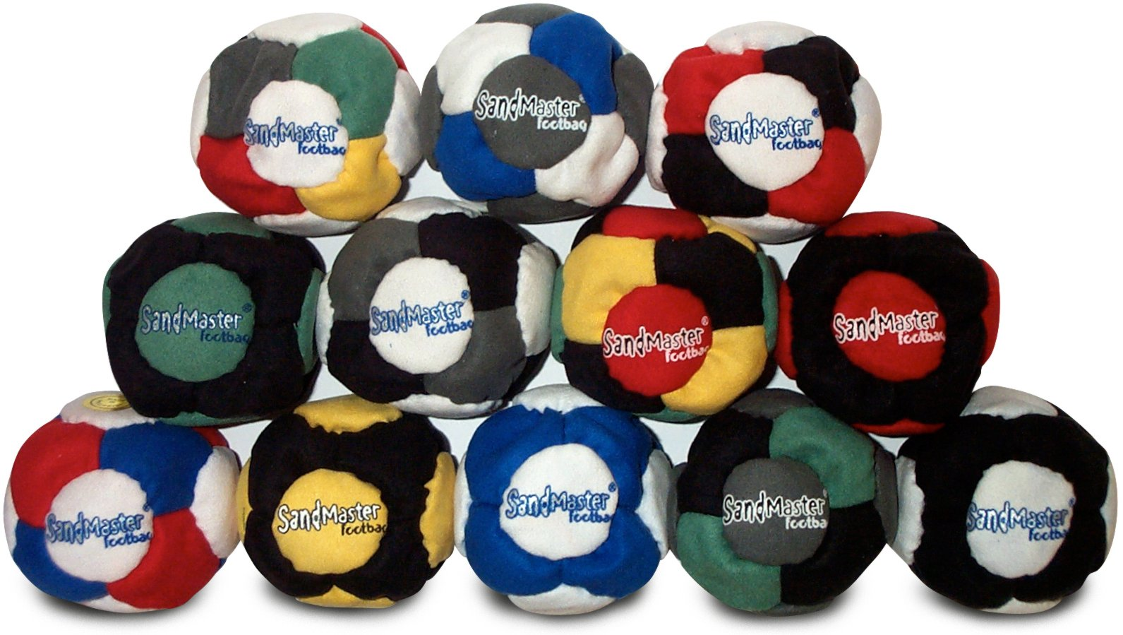SandMaster Footbag Hacky Sack 12 pack