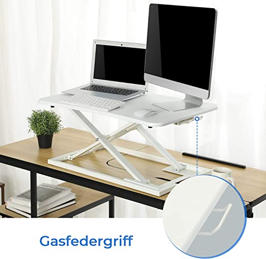 72,5 x 47 cm per computer regolabile in altezza EPHEX Scrivania ergonomica regolabile in altezza piattaforma da 6 cm a 39,5 cm monitor e laptop