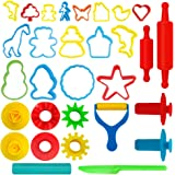 Kiddy Dough 24-Piece Tools Dough & Clay Party Pack w/Animal Shapes – Mega Tool Playset Includes 22 Colorful Cutters, Molds, Rollers & Play Accessories + 2 BONUS Surprise Extruders