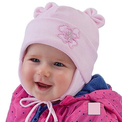 Neuf bébé fille Chapeau Fille chaud velours Casquette Chapeau de baptême de baptême  0 -18 e58cfb3179e