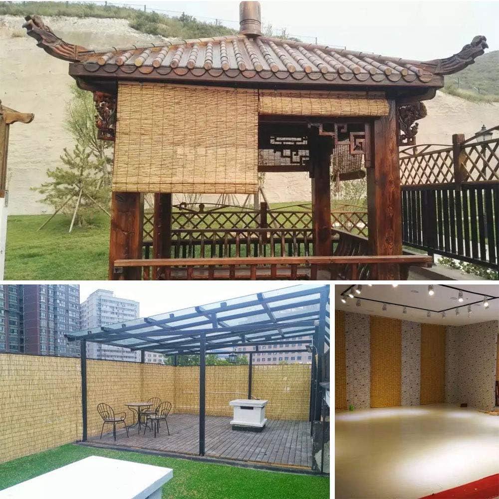 Giow Cortinas de bambú Personalizadas con persianas enrollables, Cortinas de césped para decoración del hogar, Impermeables y Resistentes al Moho, persianas de bambú para persianas, utilizadas pa: Amazon.es: Hogar