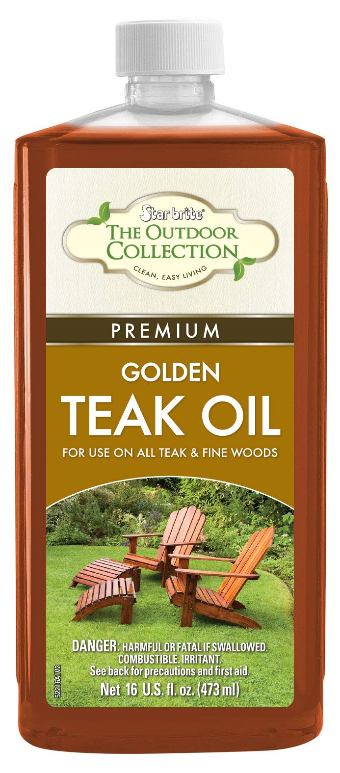 Star brite 52216 Premium Teak Oil, 16 oz. by Star Brite