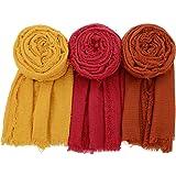 Century Star Women Scarf Head Wrap Scarve Soft Cotton All Season Shawl Long Scarfs Hijab for Women
