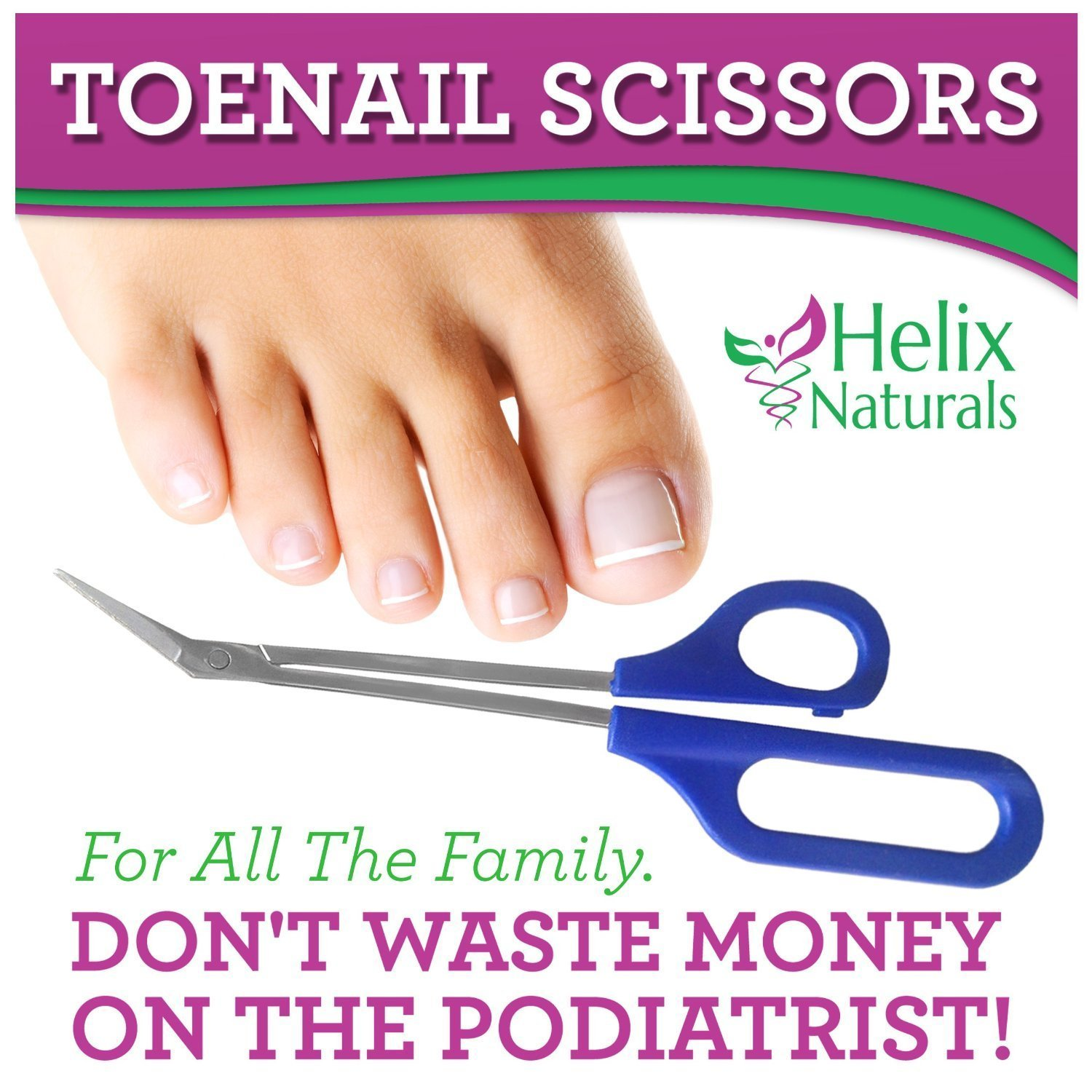 Tresalto Long Handled Toenail Scissors and Clippers for Thick Nails ...
