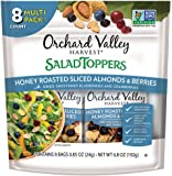 ORCHARD VALLEY HARVEST Salad Toppers, Honey Roasted Sliced Almonds & Berries, Non-GMO, No Artificial Ingredients, 0.85 oz (Pack of 8)