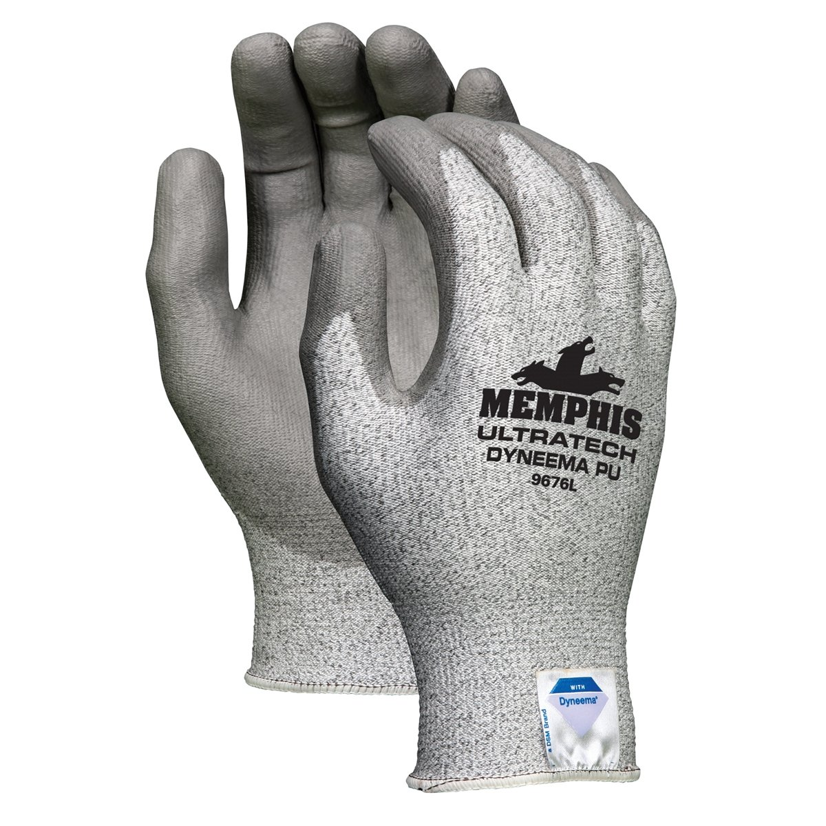 Memphis 9676L UltraTech Dyneema Cut Resistant PU Coated Gloves 12 Pair LARGE
