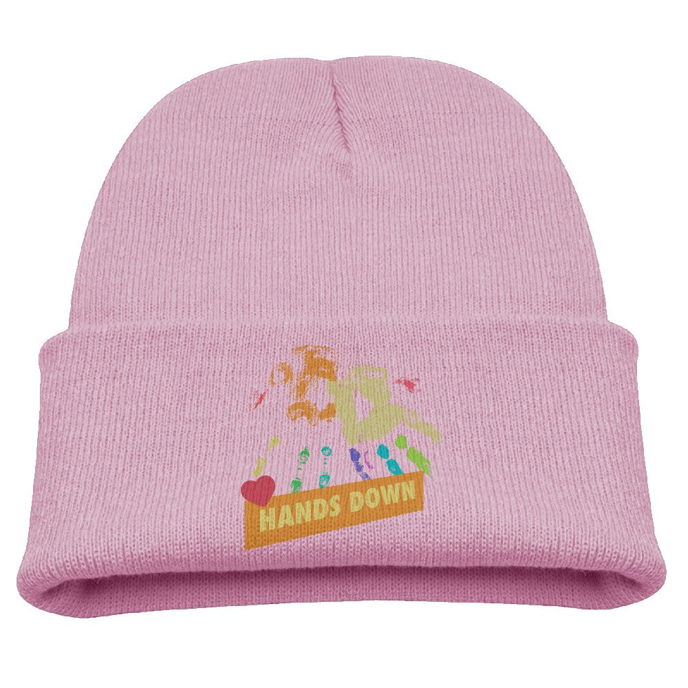 96bc90f97fb Amazon.com  Kids Hats Children Best Daddy Ever Hands Down Father s Day Wool  Cap Animal Beanies Knitted Caps Warm Winter Hats for Girls Boys Pink   Clothing