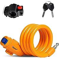 Cerradura de Bicicleta Antirrobo Montaje Flexible,Candado de Cable en Espiral para Bicicleta,Bicicleta Mejor antirrobo…