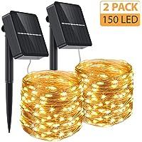 Aerb Guirnalda Luz Exterior Solar, 2 Pack Cadena