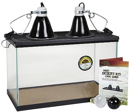 Zilla 01312 10-Gallon Kit básico para desierto, 25,4 cm por 50