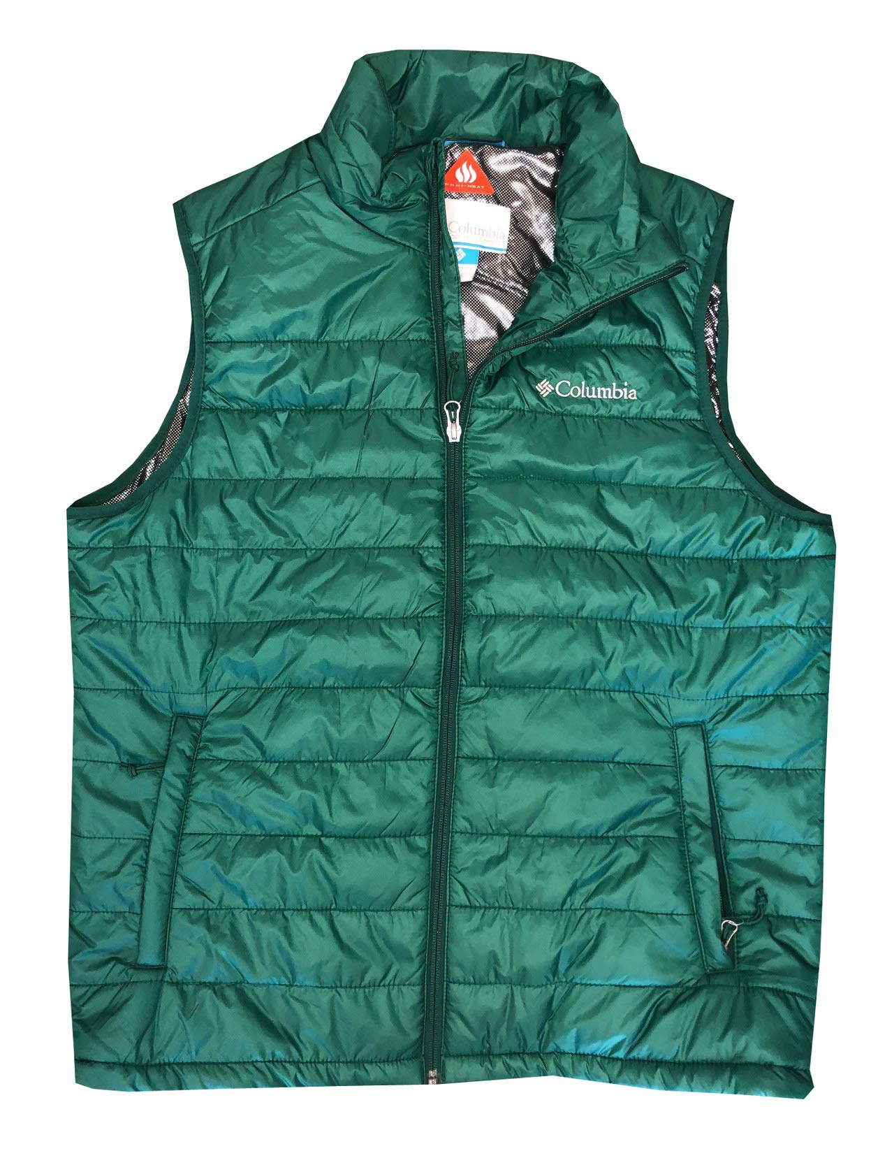 Columbia Men's Crested Butte II Omni-Heat Puffer Vest Jacket (L, Forest Green) by Columbia