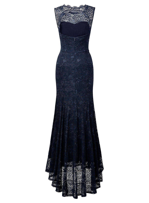 Miusol® - Vestido - Estuche - Sin mangas - para mujer Azul azul 38: Amazon.es: Ropa y accesorios