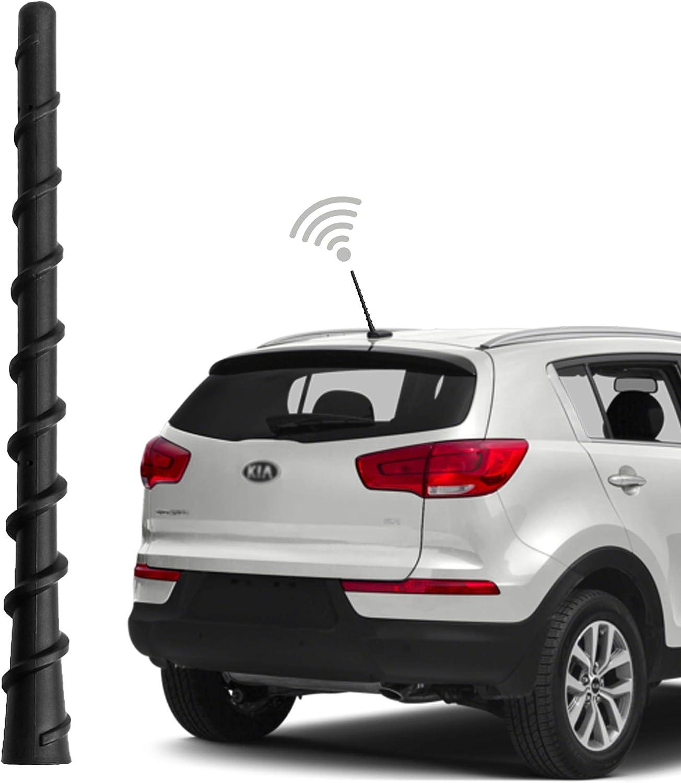 DeepRoar Replacement Antenna for Kia Soul 2010-2018 Black Optimized FM//AM Reception 3 Inch BA01