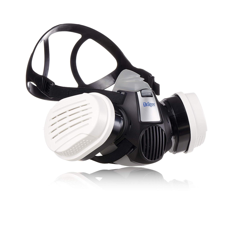 Dräger X-plore 3300 | Kit de Semi máscara + filtros A2 P3 RD | Respirador de Seguridad para Trabajos de Pintura y Agricultura Frente a fumigantes, insecticidas, tintes
