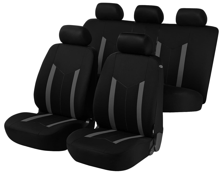 Hastings Car Seat Cover - Grey & Black For Citroen C3 2002-2009 Micksgarage