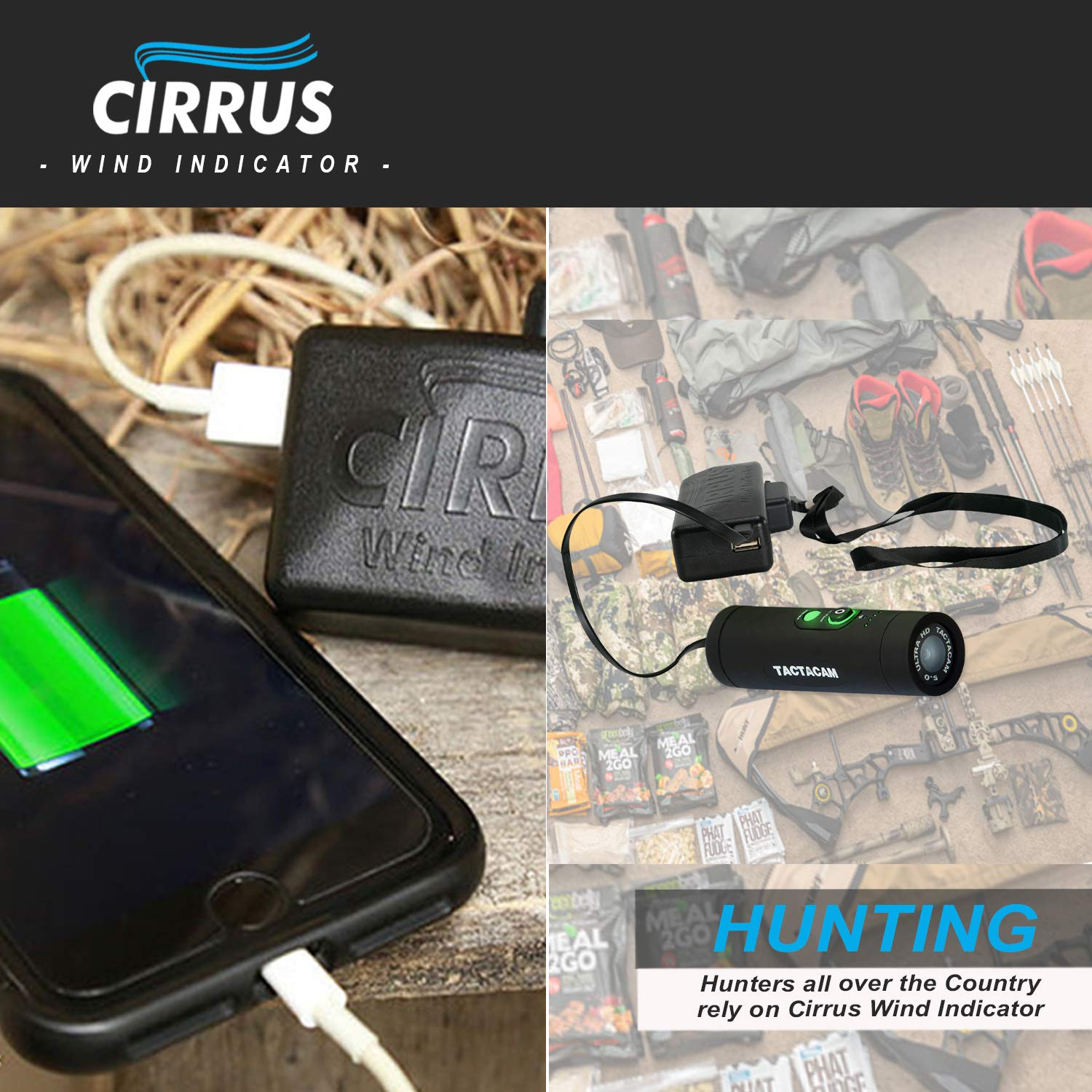Cirrus Wind Indicator for Hunting - The Perfect Wind Checker Alternative to Messy Powder by Cirrus (Image #6)