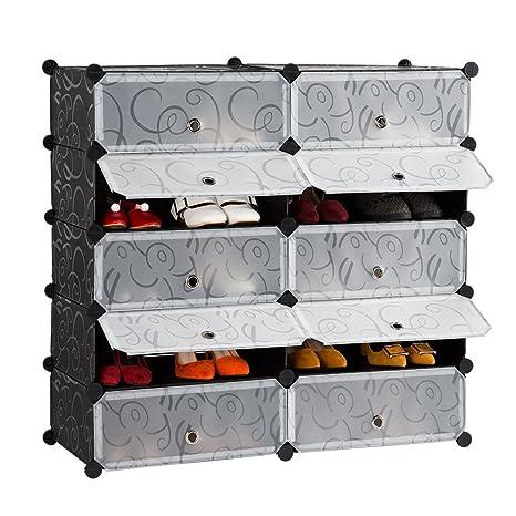 LANGRIA modulare scaffale portaoggetti organizzatore armadio con ...