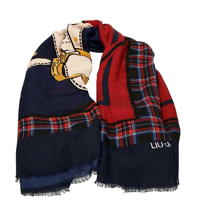 Liu Jo N68314T0300 Foulard Donna Blu PZ  Amazon.it  Abbigliamento 08eacf14b0b