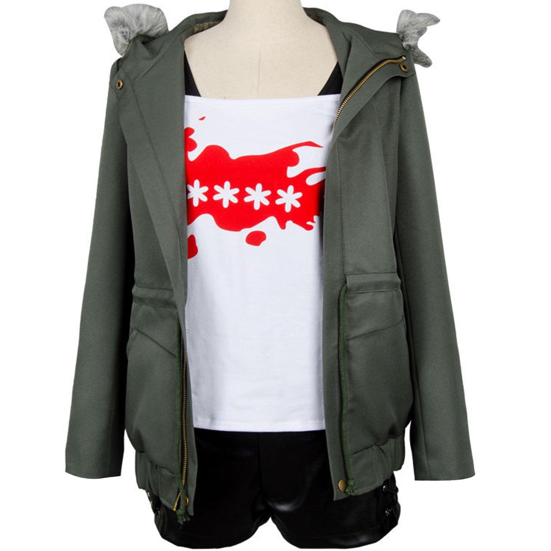 Ya-cos Persona 5 Futaba Sakura Cosplay Costume A.F.K. Logo Casual Coat Jacket Shirt Tee Suit Dress up