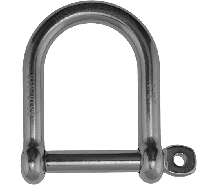 x5 12MM Galvanised Steel Commercial Dee Shackles