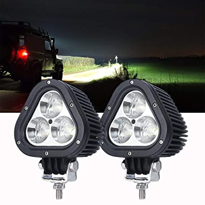 Samlight LED Light Bar, 60W 4 Inch 6000K Spot Flood Combo Light Pods Off Road Driving Lights Fog Bumper Roof Light for Boat Jeep SUV Trucks Hunters Motorcycle Triangle Shape: Automotive