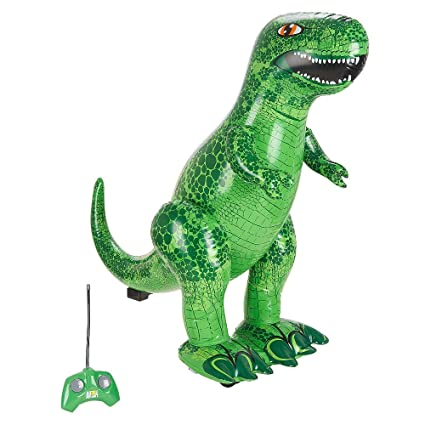 Amazon.com: Animal Planet hinchable de radio control t rex ...